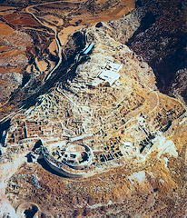 Aerial view of the archaeological site of Mycenae
