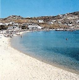 Playa de Mykonos: Ornos. Imagen: dolphin-hellas.gr