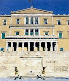 Athens, Syntagma: the Parliament and the Tomb of the Unknown Soldier