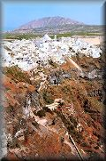 A general view of Fira town on Santorini island; click to enlarge