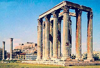 Temple of Zeus (Olympeion) in Athens