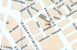 Map Of Omonia Psiri Areas In The Centre Of Athens Greece And