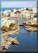 Crete (Kriti), the town of Agios Nikolaos; click to enlarge