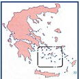 Position of the Cyclades group of islands in Greece