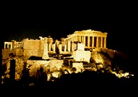 Night view of the Acropolis of Athens