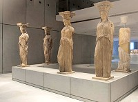 "The ""Caryatids"" as exhibited at the New Acropolis Museum"