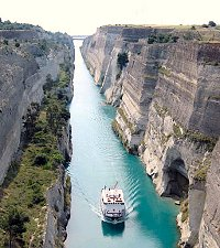 Corinth channel crossing