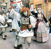 Genitsaroi and Boulles in Greek folk carnival