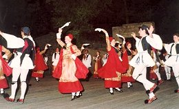 Authentic Greek dancers