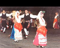 Greek traditional dances at the Dora Stratou theatre