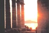 Sunset at Sounio