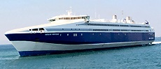 The Aiolos Kenteris (NEL): fast ferry type, travelling in the Cyclades