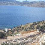 The view from the Ancient Milos amphitheatre