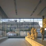 View from inside the Acropolis Museum