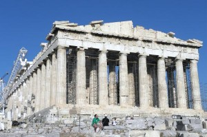 The Parthenon on the Acropolis of Athens