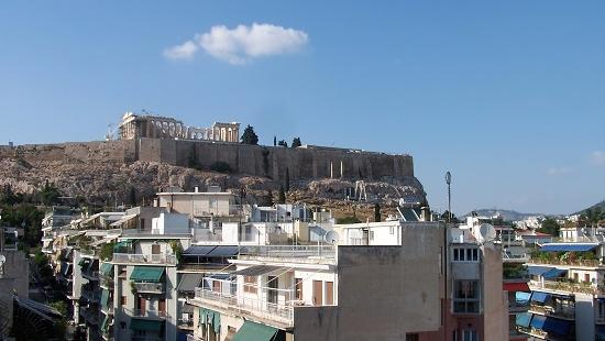 The view from a room at the Divani Acropolis Palace hotel in Athens