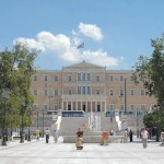 Athens, the Parliament viewed from Syntagma square