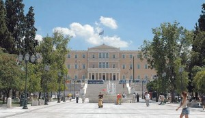 The Athens Parliament and Syntagma Square