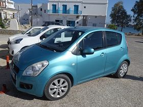 Rented car in Paros