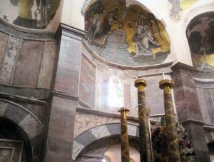 Chios: inside the catholicon of Nea Moni monastery