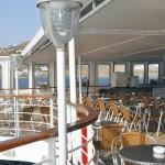 Ouranos deck: buffet area