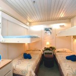'IA' Standard inside quadruple cabin on the 'Coral' cruise vessel
