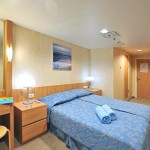 'XF' Deluxe outside cabin on the Coral cruise ship