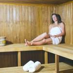 Apollo deck: sauna