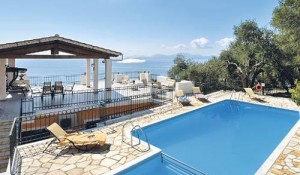 Villa Alexandros in Corfu, pool area