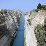 Corinth canal - https://www.flickr.com/photos/pug_girl/6200098371/