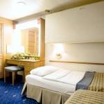 'ID' inside quadruple cabin on the Celestyal Crystal cruise ship