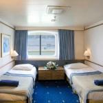'XB' outside cabin: twin bed arrangement