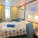'XF' Deluxe outside cabin on the Celestyal Cristal cruise vessel