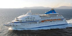 The 'Cristal' cruise ship