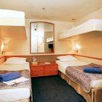 'IB' inside quadruple cabin on the Celestyal Crystal cruise ship