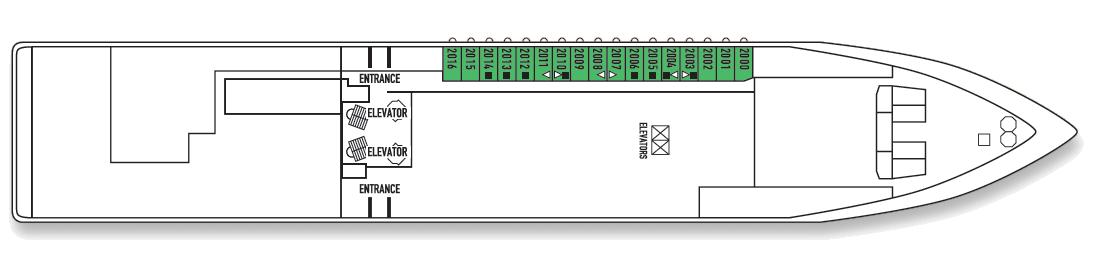 Deck: 'Athena deck (2)' / Ship: 'Celestyal Crystal' cruise vessel / Cruise company: Celestyal Cruises