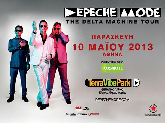 The Depeche Mode in concert in Athens, Greece