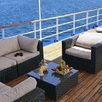 The sundeck of the Elysium cruise yacht