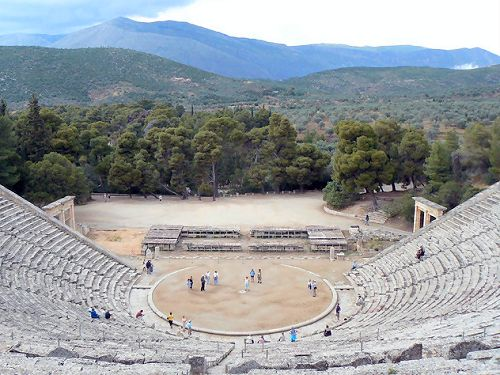 The theatre of Ancient Epidaurus
