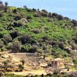 Distant view of little theatre in Ancient Epidaurus