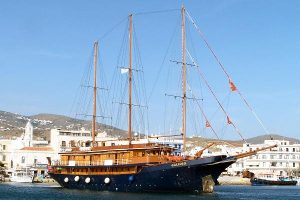 The 'Galileo' cruise vessel at Tinos