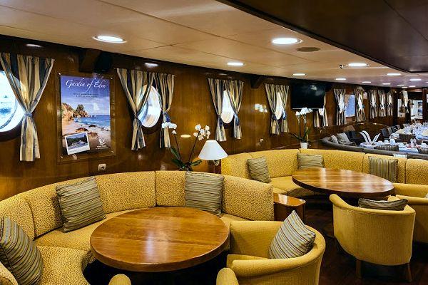 The Galileo Motor Sailer Ship Travel In Greece With