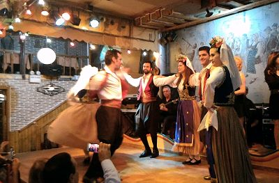 Greek traditional dances show