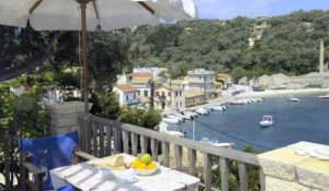 The view over Longos from one of the terraces of the Harbour View house