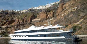 The 'Harmony G' in the Caldera of Santorini