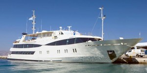 The 'Harmony V' mega yacht cruise vessel