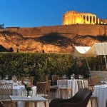 Dinner on the rooftop of the Divani Acropolis Palace hotel