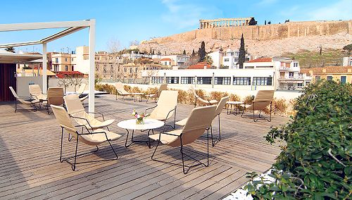 View of Acropolis from the roof garden