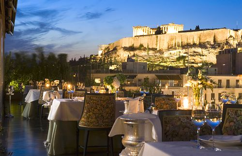 View of the Acropolis from the 'Ioannis' roof-top restaurant