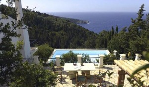 Loulouthia Villas, view from a barbecue terrace